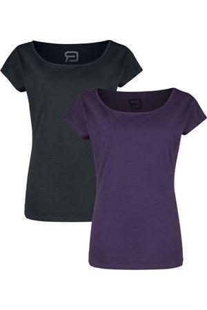 RED by EMP Doppelpack T-Shirts mit Rundhalsausschnitt T-Shirt /lila