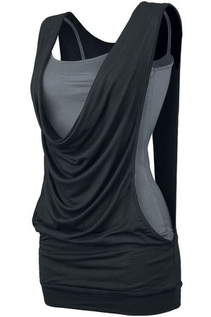 Forplay Damen T-Shirts, Polos & Longsleeves - Open Double Layer Top /