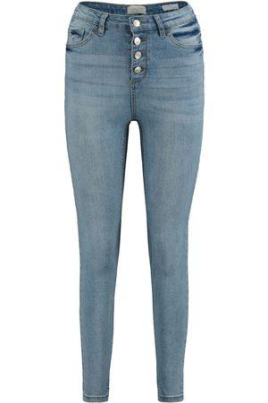 Hailys Damen Cropped - Romina Jeans hellblau