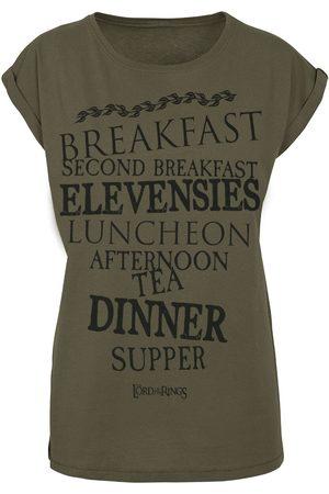 Herr der Ringe Damen T-Shirts, Polos & Longsleeves - Shire Food T-Shirt oliv
