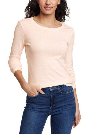 Eddie Bauer Favorite Shirt - Langarm mit Rundhalsausschnitt Damen Natur Gr. L
