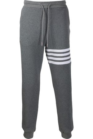 Thom Browne Herren Jogginghosen - 4-Bar waffle stitch track pants