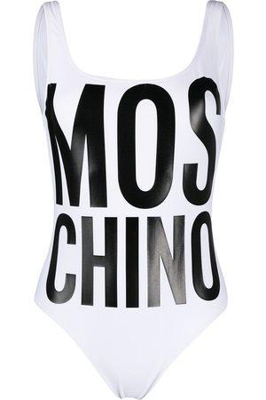 Moschino Badeanzug mit Logo-Print
