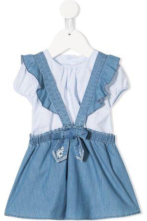 Chloé Baby Kleider - Zweiteiliges Jeanslatzkleid