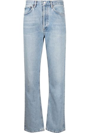 AGOLDE Halbhohe Straight-Leg-Jeans