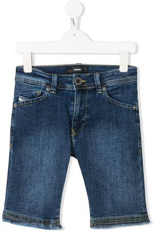 Diesel Ausgefranste Jeans-Shorts