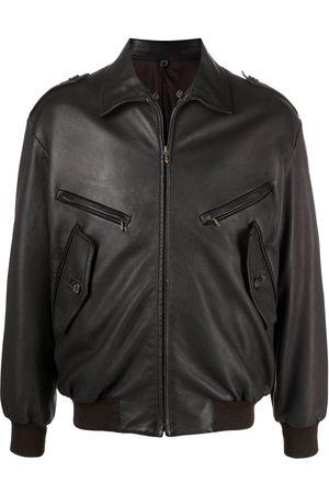 Hermès 2010s pre-owned Bomberjacke aus Leder