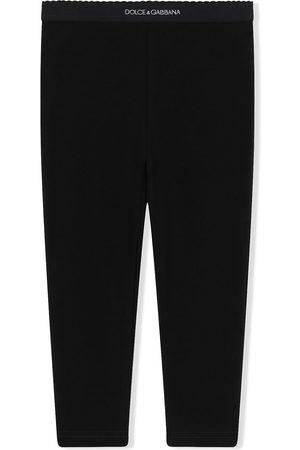 Dolce & Gabbana Leggings mit Logo-Bund