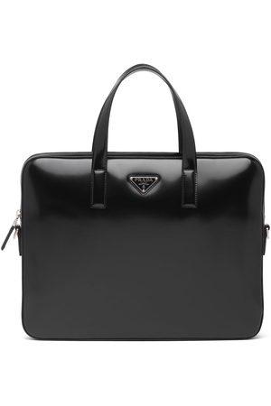 Prada Herren Laptop- & Aktentaschen - Aktentasche mit Logo-Schild