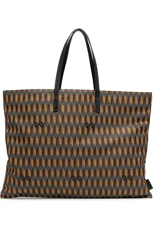 Au Départ Shopper mit geometrischem Muster