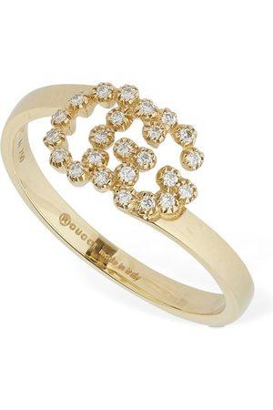 """Gucci Ring Aus 18kt Mit Diamanten """"gg Running"""""""