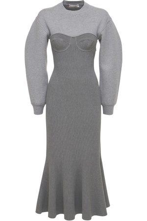 Alexander McQueen Bustierkleid Aus Wolle