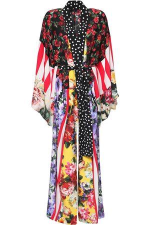 Dolce & Gabbana Kaftan Aus Seiden-crepe De Chine