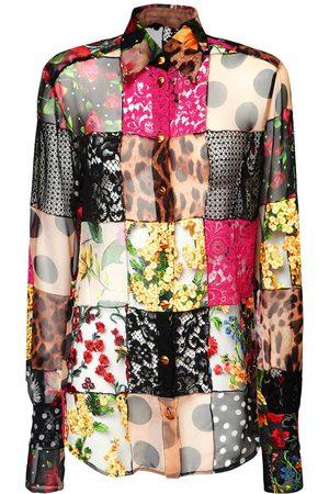 Dolce & Gabbana Hemd Aus Spitze Und Crepe De Chine