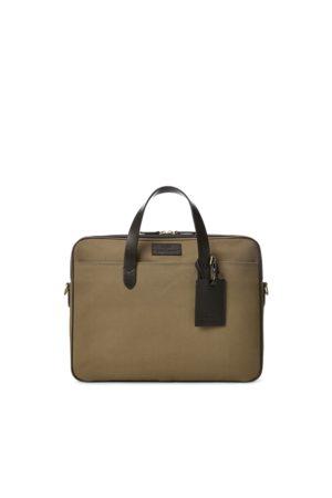 Polo Ralph Lauren Herren Laptop- & Aktentaschen - Segeltuch-Aktentasche mit Lederbesatz