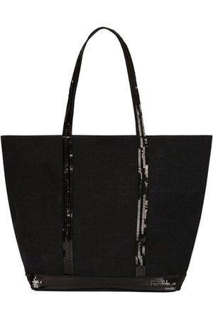 Vanessa Bruno Damen Handtaschen - Cabas Tote aus Leinen und Pailletten L mit Reißverschluss