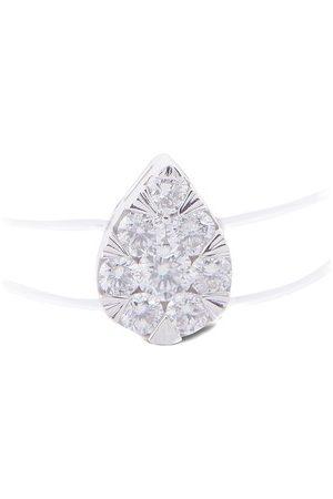 PERSÉE Ring Floating Poire Nylon mit einem Diamanten