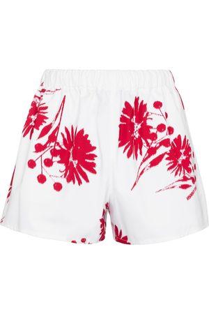 Prada Bedruckte Shorts aus Baumwolle