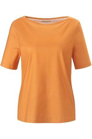 Green Cotton Damen T-Shirts, Polos & Longsleeves - T-Shirt U-Boot-Ausschnitt