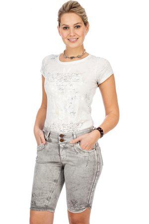 hangOwear Damen Cropped - Jeanshose HENDRINA Bermuda hellgrau
