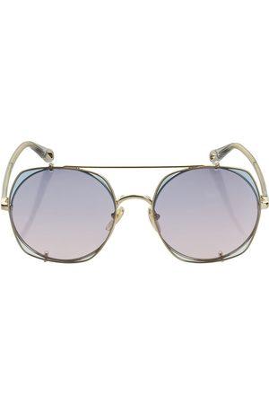 "Chloé Damen Sonnenbrillen - Eckige Sonnenbrille Aus Metall ""demi"""