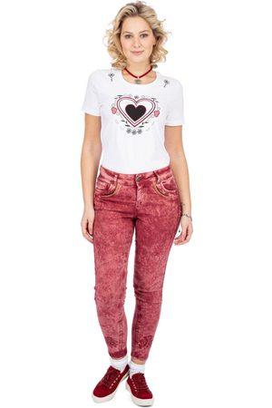 hangOwear Jeanshose HENDRINA Classic weinrot