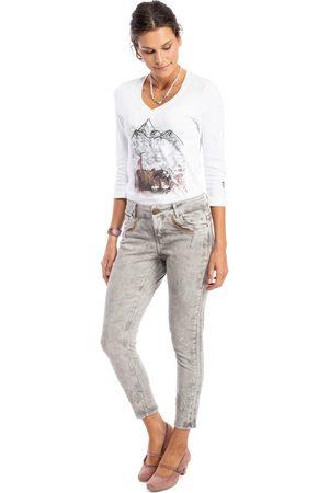 hangOwear Jeanshose HENDRINA Classic hellgrau