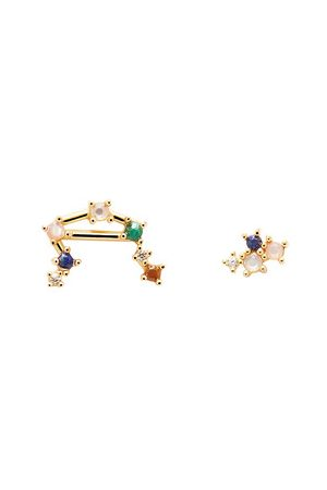 PDPAOLA Damen Ohrringe - Ohrringe Earrings LIBRA gold