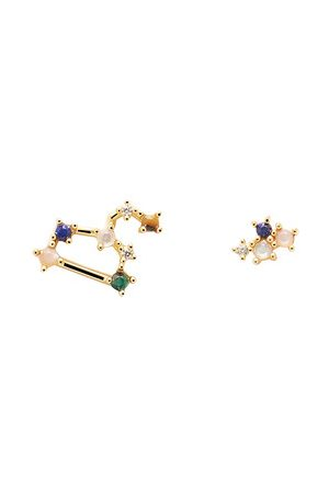 PDPAOLA Damen Uhren - Ohrringe Earrings LEO gold