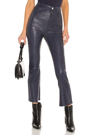 SPRWMN Embossed 5 Pocket Crop Flare Pant in . Size M, XS.
