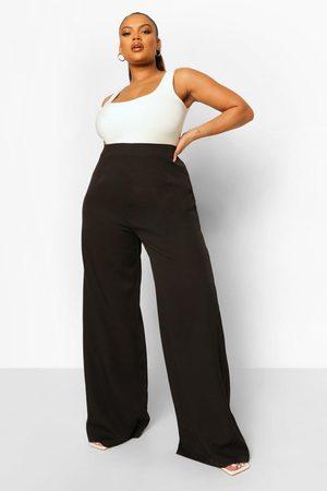 boohoo Womens Plus Enganliegende Hose Mit Weitem Bein - - 42