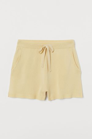H&M Damen Shorts - Shorts in Feinstrick