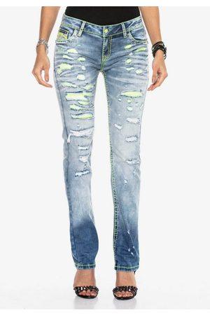 Cipo & Baxx Bequeme Jeans mit Neon-Effekten