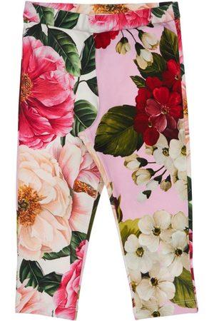 Dolce & Gabbana Leggings Aus Baumwollinterlock Mit Druck