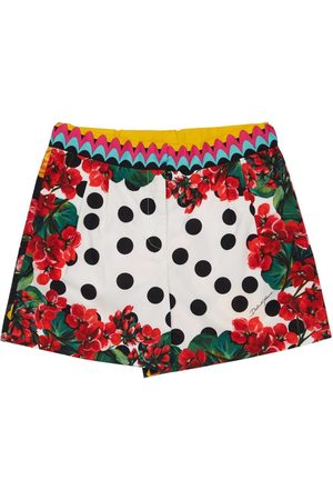 Dolce & Gabbana Shorts Aus Baumwollpopeline Mit Punktdruck