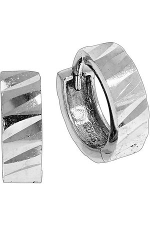 vivance collection Klappcreolen »925/- Sterling diamantiert«, rhodiniert+diamantiert