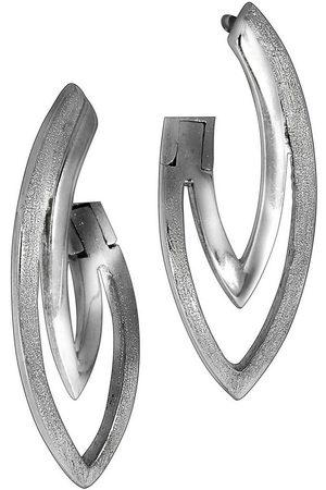 vivance collection Klappcreolen »925/- Sterling rhodiniert«, Matt/Glanz Oberfläche