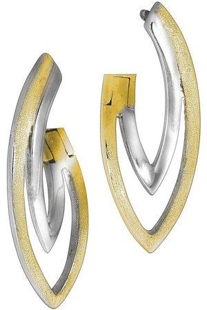 vivance collection Klappcreolen »925/- Sterling bicolor«, rhodiniert + bicolor