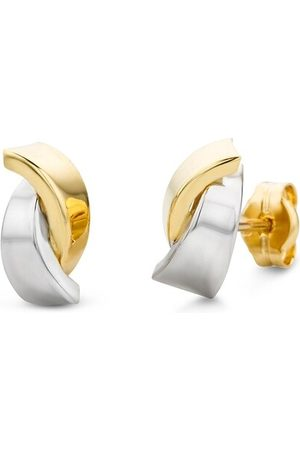 DIAMADA Ohrringe Earring 14KT Bi Color Gold gelbgold