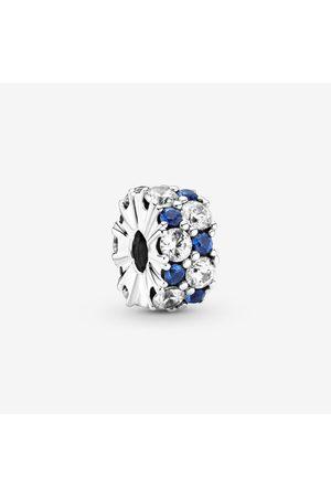 PANDORA Klares & blau funkelndes Clip-Charm