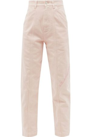 Stella McCartney Damen Baggy & Boyfriend - Logo-embroidered High-rise Tapered-leg Jeans