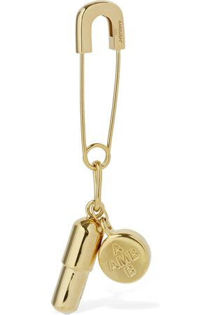 "AMBUSH Herren Ohrringe - Mono-ohrring ""pill Charm Safety Pin"""