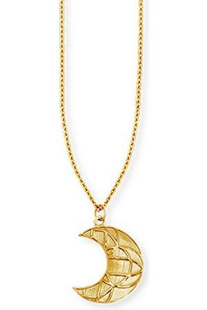 CAÏ Kette mit Anhänger »925/- Sterling vergoldet Mond«, Anhänger mit Kette