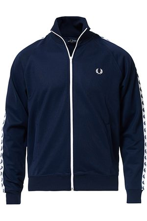 Fred Perry Herren Jacken - Taped Track Jacket Carbon Blue
