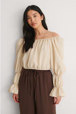 Trendyol Damen Blusen - Schulterfreie Bluse - Beige