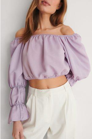 Trendyol Schulterfreie Bluse - Purple