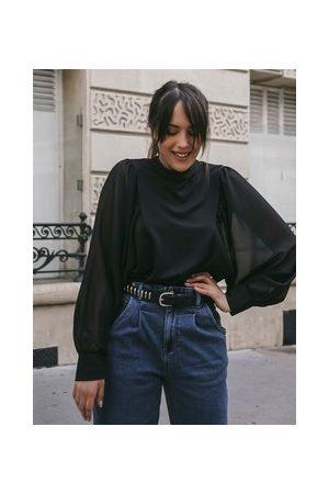 Promod Damen Blusen - Bluse mit XXL-Ärmeln