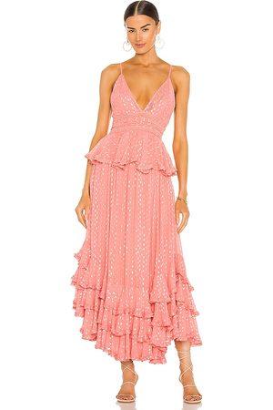 ROCOCO SAND Aria Maxi Dress in . Size S, XS, M.