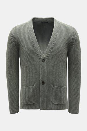 04651/ Herren - Cardigan graugrün