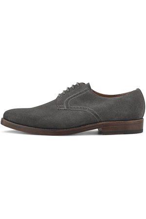 Heinrich Dinkelacker Herren Elegante Schuhe - Derby-Schnürer in dunkelgrau, Business-Schuhe für Herren